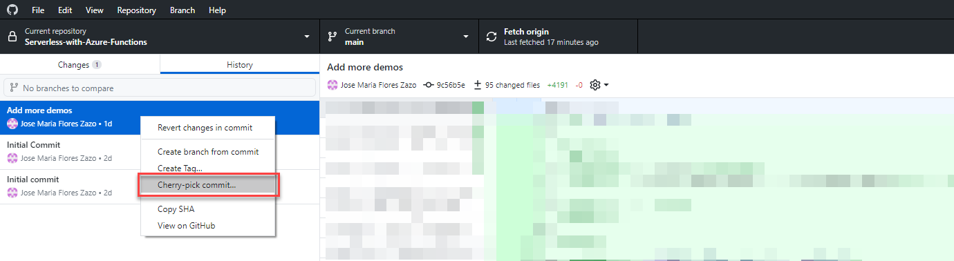 Captura desde GitHub en Windows